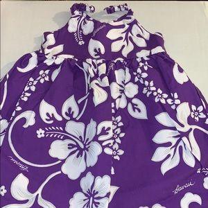Purple Hawaiian Luau Dress